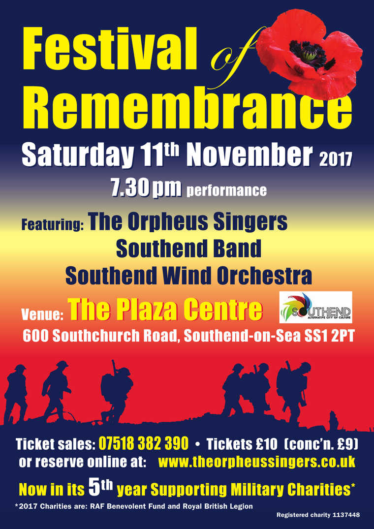 Festival of Remembrance poster