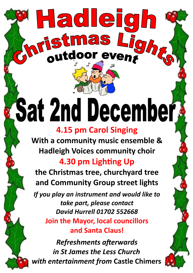 Hadleigh Christmas Lights Switching On poster
