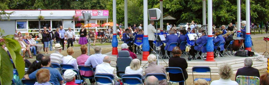 Bandstand Welcomed to Priory Park poster