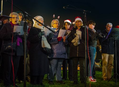 Turning on the Hadleigh Chrstmas Tree gallery image